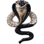 ReadyGolf: 3D Cobra Snake with Crystals Ball Marker & Hat Clip
