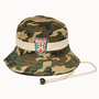 Camo Bucket Hat with Chin Strap