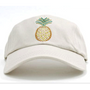 Dolly Mama: Ladies Baseball Hat - Pineapple on White