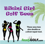 Bikini Lady Golf Tees (4 Pack)