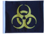 SSP Flags: 11x15 inch Golf Cart Replacement Flag - Biohazard Yellow