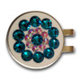 Blingo Ball Markers: Teal Blue on White