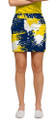 Loudmouth Golf: Women's Skort - Blue & Gold Paint Ball