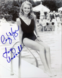 "Cindy Morgan ""Lacey Underall"" Signed 8x10 Caddyshack B & W Photo - Pool Side"
