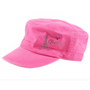 Dolly Mama: Ladies Fidel Military Cap - I Love Paris on Pink