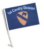 SSP Flags: Car Flag with Pole - 1st Cavalry Division