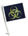 SSP Flags: Car Flag with Pole - Biohazard Yellow