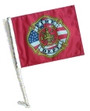 SSP Flags: Car Flag with Pole - Fire Dept