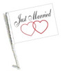SSP Flags: Car Flag with Pole - Just Married
