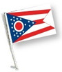 SSP Flags: Car Flag with Pole - State of Ohio