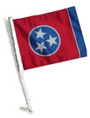 SSP Flags: Car Flag with Pole - Tennessee