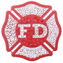 ReadyGolf: Fire Department Ball Marker & Hat Clip with Crystals