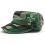 Dolly Mama Ladies Fidel Military Cap - Fleur De Lis on Camo