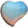 ReadyGolf: Gemstone Heart Shaped Ball Marker - Opalite
