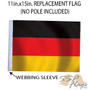 SSP Flags: 11x15 inch Golf Cart Replacement Flag - Germany
