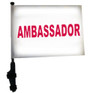 SSP Flags: 11x15 inch Golf Cart Flag with Pole - Ambassador