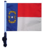 SSP Flags: 11x15 inch Golf Cart Flag with Pole - State of North Carolina