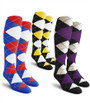 Golf Knickers: Men's Over-The-Calf Argyle Socks