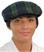 Golf Knickers: Ladies Par 5 Cotton/Ramie Plaid Golf Cap