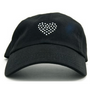 Dolly Mama Ladies Baseball Hat - Heart on Black