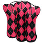 BeeJo's: Golf Headcover - Hot Pink and Black Argyle