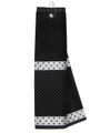 Just 4 Golf: Black Towel with Ribbon