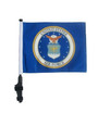 SSP Flags: 11x15 inch Golf Cart Flag with Pole -  Licensed Air Force Coat of Arms