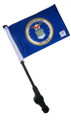 SSP Flags: Small 6x9 inch Golf Cart Flag with EZ On/Off Pole Bracket - Licensed Air Force Coat of Arms
