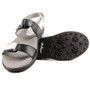 Sandbaggers: Women's Golf Sandals - Lola Black & White
