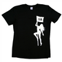 Pole Dancer Naked Lady Black Golf Tee Shirt by ReadyGolf