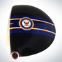 ClubCrown Stripes: Removable Driver Decal - Navy