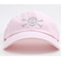 Dolly Mama Ladies Baseball Hat - Skull & Crossbones on Pink