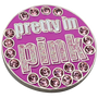 ReadyGolf: Pretty In Pink Ball Marker & Hat Clip with Crystals
