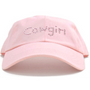 Dolly Mama Ladies Baseball Hat - Cowgirl on Pink