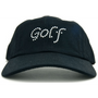 Dolly Mama Ladies Baseball Hat - Golf on Black