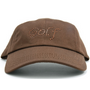 Dolly Mama Ladies Baseball Hat - Golf on Chocolate