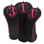 BeeJos: Golf Head Cover - Simple Hot Pink Print