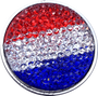 ReadyGolf: Rhinestone Crystal Ball Marker - Red, White & Blue