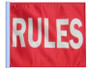 SSP Flags: 11x15 inch Golf Cart Replacement Flag - Rules