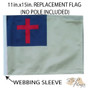 SSP Flags: 11x15 inch Golf Cart Replacement Flag - Christian