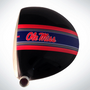ClubCrown Stripes: Removable Driver Decal - Mississippi