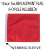 SSP Flags: 11x15 inch Golf Cart Replacement Flag - Orange