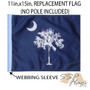 SSP Flags: 11x15 inch Golf Cart Replacement Flag - State of South Carolina / Palmetto