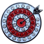 ReadyGolf: Target Golf Ball Marker & Hat Clip with Crystals