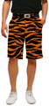 Loudmouth Golf Mens Shorts - Orange & Black Tiger Stripes