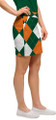Loudmouth Golf: Womens Skort - Orange & Green Argyle