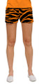 Loudmouth Golf: Women's Mini Shorts - Orange & Black Tiger Stripes