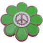 ReadyGolf: Hippie Flower Ball Marker & Hat Clip with Crystals - Peace Sign