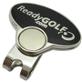 ReadyGolf: Hand Gesture - Peace Sign Ball Marker & Hat Clip with Crystals