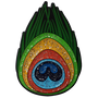 ReadyGolf: Glitter Ball Marker & Hat Clip - Peacock Feather